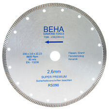 230mm Diamantscheibe Diamanttrennscheibe Trennscheibe für Feinsteinzeug Fliesen