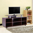Wheeled TV Stand Entertainment Center Media Console Storage Cabinet Furniture