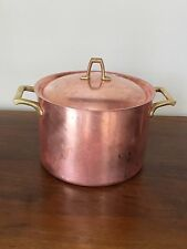 Paul Revere Ware Copper Stock Pot with Lid ~ 4 Qt