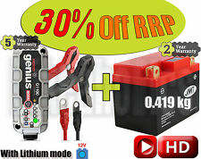 JMT GTX5L-BS Lithium battery + NOCO G1100 Smart charger CCA +55A  Weight -1.5kg