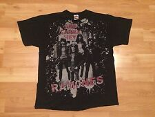 VINTAGE RAMONES T SHIRT MENS LARGE GABBA GABBA HEY BLACK GRAY FRUIT OF THE LOOM