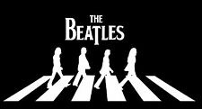 """BEATLES Vinyl Decal Wall Sticker Auto Graphics Abbey Road -ANY COLOR 16"""" Wide"""