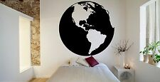 World Map Earth Planet Continents Travel Wall Vinyl Sticker Decal Decor F1697
