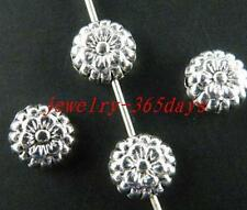 120pcs Tibetan Silver Nice Flower Spacer Beads 7.5x4mm zn3048