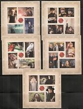 2013 BK307 Imperf Harry Potter #4825-4844 without Die-Cuts 5 Panes as Scan Shows