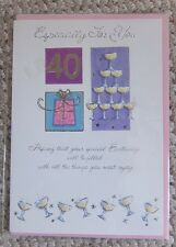 Especially For You 40th Birthday Greetings Card
