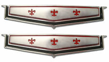 1965 1966 Chevy Caprice Rear Roof Panel Emblem Pair