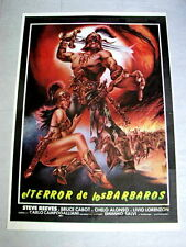 GOLIATH & THE BARBARIANS Orig SEXY PEPLUM Movie Poster STEVE REEVES BRUCE CABOT