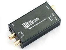 MUSE 24Bit/192Khz Digital Optical Coaxial to Analog RCA Audio Converter DAC Blac