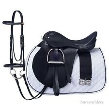 18 Inch All Purpose English Saddle Package - Black - All Leather - Regular Tree
