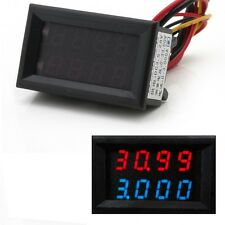 4 Bit 0-33V 3A DC Voltmeter Ammeter Digital LED Dual Display Amp Volt meter
