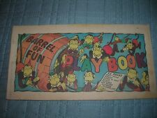1947 PLAY POISE SHOES COMIC PLAY BOOK BARREL OF FUN PREMIUM