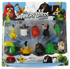 10Pcs Angry Birds Action Figure Set Toy Collection Red Chuck Pig Kids Xmas Gift