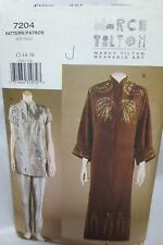 Vogue Marcy Tilton wearable art sewing pattern,misses tunic,pants size 12-14-16