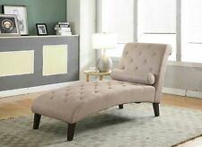 BROWN Fabric Chaise Lounge Sofa Couch Seat Living Room Modern Lounger Recliner