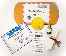 Magical Tooth Fairy Deluxe Kit/Gift incl. Fairy Letter Certificate & Fairy Dust