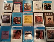 Lot of 15 Vintage 8-Track Tapes cartridges all with sleeves working condition