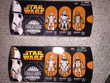 "Star Wars EVOLUTIONS ""Clone Trooper To Stormtrooper"" White & Yellow Trooper NM"
