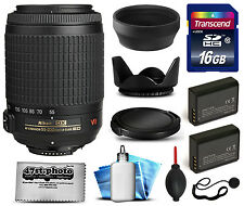 Nikon AF-S 55-200mm VR Lens Kit for D5300 D5200 D5100 D3300 D3200 D3100 DF
