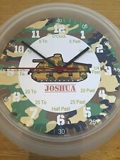 Army Soldier Teaching Wall Clock. Learn To Tell Time Personalised xmas boys Gift