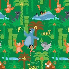Fat Quarter Disney Jungle Book Scenic 100% Cotton Quilting Fabric 50702