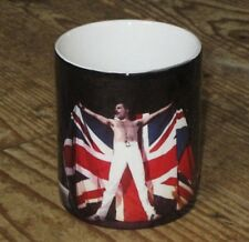 Freddie Mercury Queen Live on Stage Union Jack Flag MUG