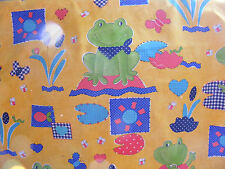 FABRIC CHILDRENS/NURSERY O HANLON TOAD  62.05 WIDTH MAIN COLOUR YELLOW