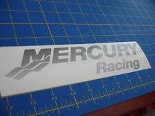 "Mercury Racing Sticker DECAL SILVER Race Boat Outboard ""You get 2!"""