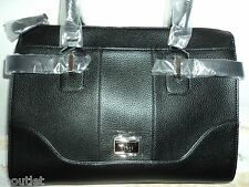 AUTHENTIC GUESS BLACK ABIU MULTI SATCHEL SHOULDER HANDBAG PURSE BAG NEW