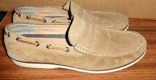 MENS COACH JARED BEIGE TAN SUEDE PENNY LOAFERS DRIVING SHOES SIZE 13 B