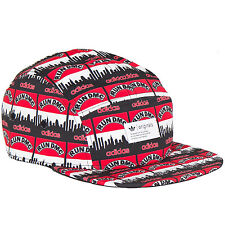 adidas Originals Men's Run DMC Hat Baseball Cap Snapback - Red - OSFM
