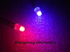 100pcs 3mm 3Pin Diffused Red & Blue Light Common Cathode Led Diode