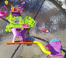 Polly Pocket Doll Wall Party Tree House Playset W Accessories