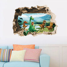 3D Jurassic Good Dinosaur Wall Stickers Removable Kids Decals Mural Home Decor