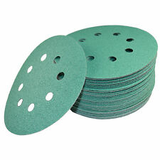 "50 5"" 8-Hole 80-Grit Dustless Hook & Loop Sanding Discs for Dewalt D26450 DW421"
