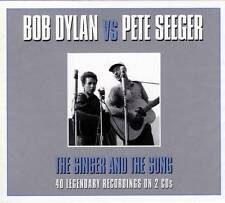 BOB DYLAN VS PETE SEEGER - THE SINGER AND THE SONG (NEW SEALED 2CD)
