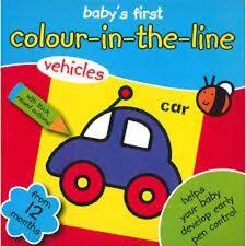 Libro coloración del primer libro coloración de bebé, color en la línea, 12 meses +