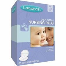 LANSINOH DISPOSABLE NURSING PADS 60 INDIVIDUALLY WRAPPED PADS