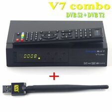 V7 Combo DVB S2 + DVB T2 Satellite Receiver +USB Wifi Support powervu Key cccam