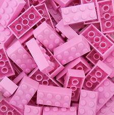 50 New Lego 3001 2x4 Bright Pink Bricks Star Wars, Mine Craft, Friends, City