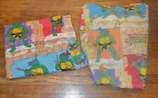 2 Piece 1988 Teenage Mutant Ninja Turtles Twin Sheet & Fitted Sheet CRAFT FABRIC