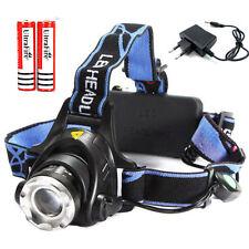 2500Lm CREE T6 LED Zoom Linterna Faro Cabeza Luz Frontal LÁMPARA batería 18650