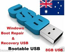 Windows Boot Repair and Recovery USB , Bootable 8GB flash memory