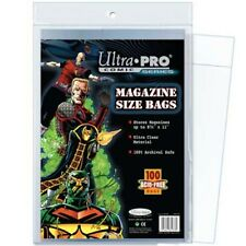 100 Ultra Pro Magazine Storage Bags Brand New Factory Sealed
