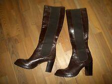 neue Lederstiefel Stiefel Lorenzo Maslero Gr. 38 dunkelbraun NP 199,-