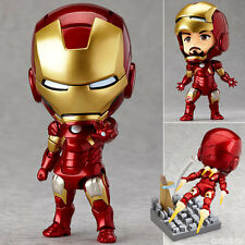 "IRON MAN/ NENDOROID MARK 7 10 CM- ACTION FIGURE HERO´S EDITION 4"" IN BOX #284"