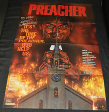 Preacher In Store Promo Poster Signed by Ennis & Dillon - DC (1995) ITB WH