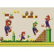 SUPER MARIO BROS Wall Stickers Children Boys Kids Game Playroom Bedroom Decor