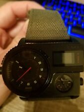 Authentic DIESEL DZ-7206 Triple time Watches  stainless steel/canvas mens