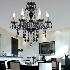 European Black Crystal Chandelier Lighting Ceiling Light Fixture Pendant Lamp